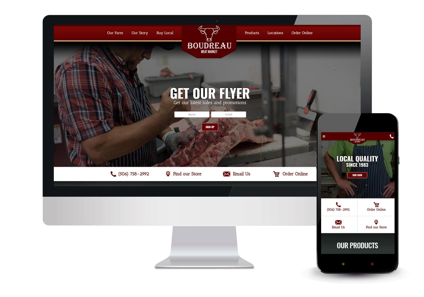 Boudreau Meat Market Website